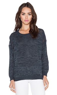 Inhabit Crew Neck Sweater in Shale Combo