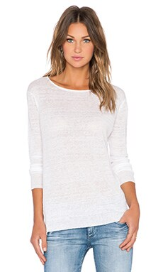 Inhabit Crew Neck Sweater in White