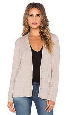 Inhabit Cashmere Zip Sleeve Cardigan in Tweed