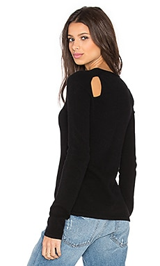 Inhabit Open Back Shoulder Sweater in Black