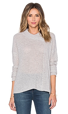 Inhabit Marled Shaker Sweater in Felt