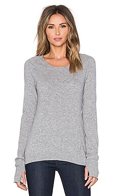 Inhabit Thumbhole Stretch Sweater in Felt