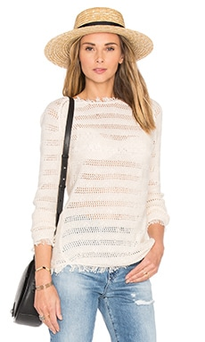 Fringe Stripe Sweater in Natural
