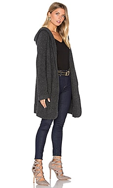 Drape Cardigan in Charcoal