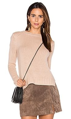 Rib Cashmere Sweater in Blush
