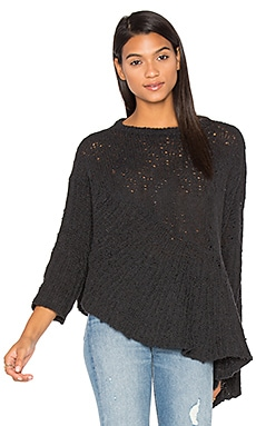 Drape Asymmetrical Sweater in Charcoal