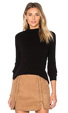 Riviera Roll Neck Sweater en Noir