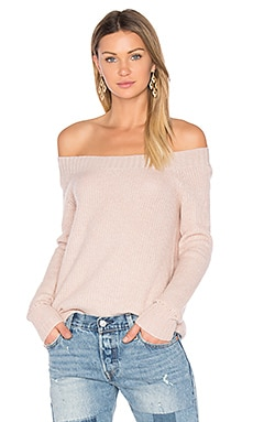 Parisienne Off Shoulder Sweater in Dawn