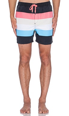 Insight Retro Beach Short in Black
