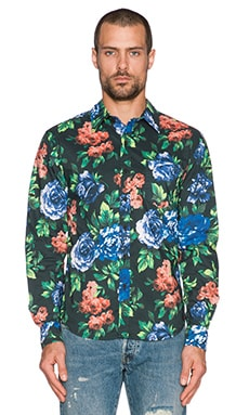 Insight Floral Shirt in Blue Note Floral