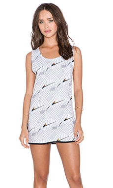 Insight Graph Muscle Dress in White Graph