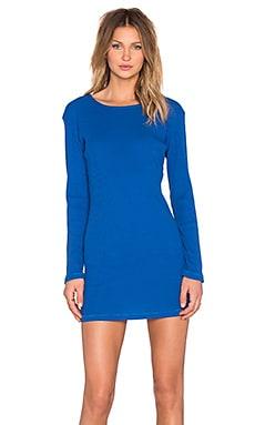 Insight Hi-Lo Rib Dress in Nautical Blue