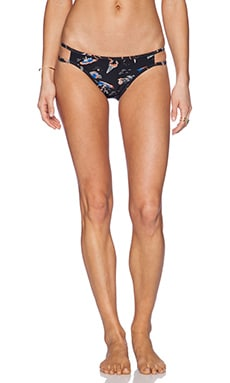 Insight Cut Out Blind Bikini Bottom in Apocalypso Black