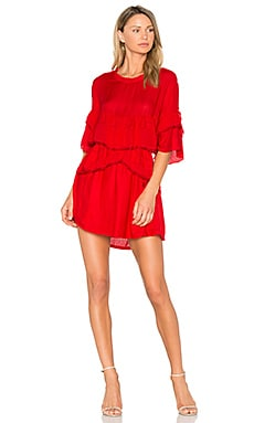Cecile Dress in Red