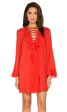 Florine Dress in Poppy Red