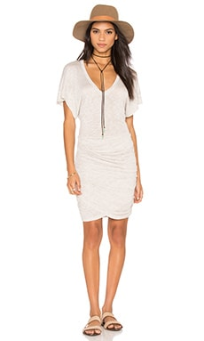 IRO Ginger Dress in Off White & Beige