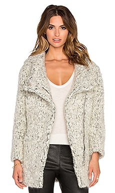 IRO Adema Faux Fur Coat in Grey