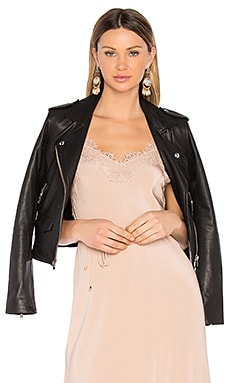 Ashville Leather Moto Jacket in Black