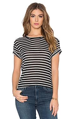 Ludvig Stripe Tee in Black