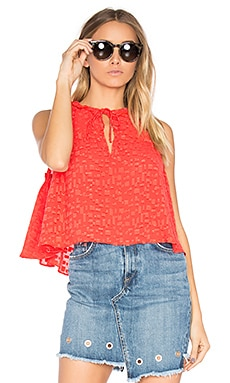 Ragnhild Top in Red Orange