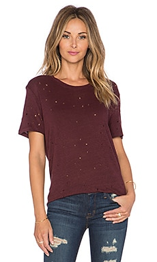 Clay Tee in Burgundy