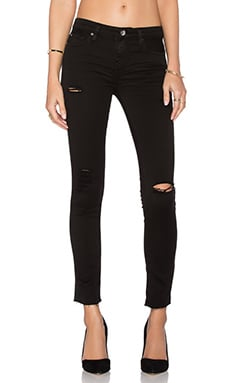 IRO . JEANS Jarod Distressed Crop in Black