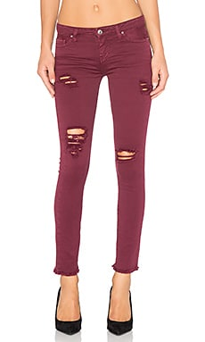 IRO . JEANS Jarod Distressed Crop in Burgundy