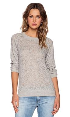 IRO . JEANS Gratful Sweatshirt in Grey Leopard