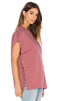 IRO . JEANS Roldan Lace Up Sweatshirt in Pink