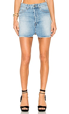 Taig Mini Skirt in Light Denim