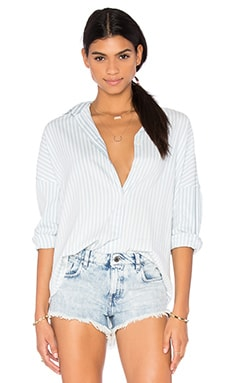 IRO . JEANS Mia Button Up Top in Stripe Light Blue