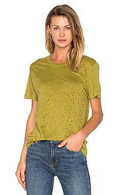Sija Distressed Tee in Grass