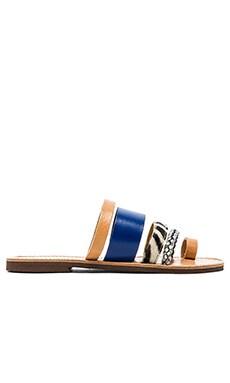 isapera Gerbera Calf Hair Sandal in Blue