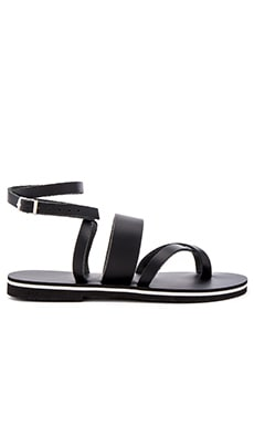 Wave Sandal in Black