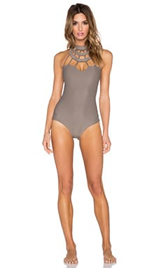 Issa de' mar Kenya Swimsuit in Minx Brown