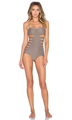 Issa de' mar San Sebastian Swimsuit in Minx Brown