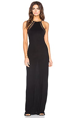 Biarritz Evening Dress in Black Mesh