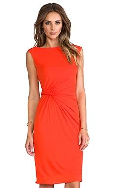 Issa Metra Jersey Dress in Solid Hibiscus