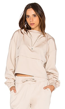 Satin Crop Hoody