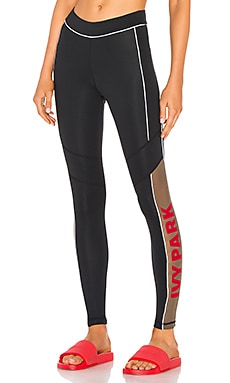 Sheer Flocked Active Logo Legging IVY PARK $49