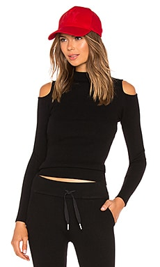 Lounge Rib Cold Shoulder Top IVY PARK $75