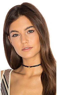 Jacquie Aiche Starburst Braided Choker in Black