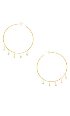 CZ Shaker Hoop Earrings