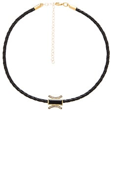 Jacquie Aiche Braided Choker Necklace in Black