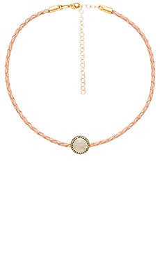 Jacquie Aiche Braided Choker Necklace in Tan