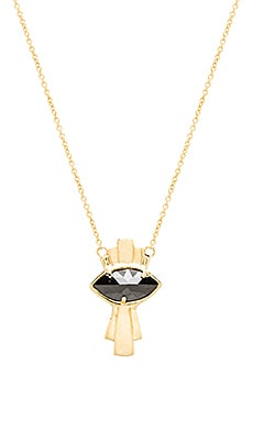 Jacquie Aiche Eye Necklace in Gold
