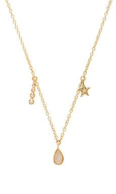 Jacquie Aiche Moonstone Teardrop Charm Necklace in Gold