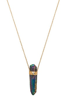 Jacquie Aiche Rainbow Crystal Necklace in Gold