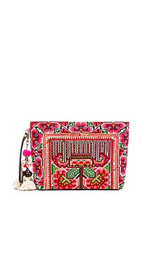 JADEtribe Eliz Pom Clutch in Pink
