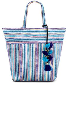 Samui Stripe Tote in ブルー